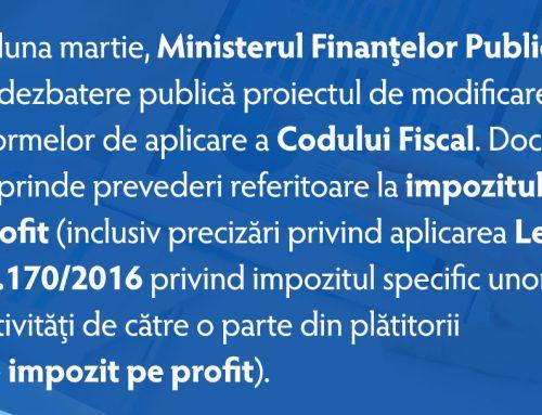 Modificarea Normelor de aplicare a Codului Fiscal