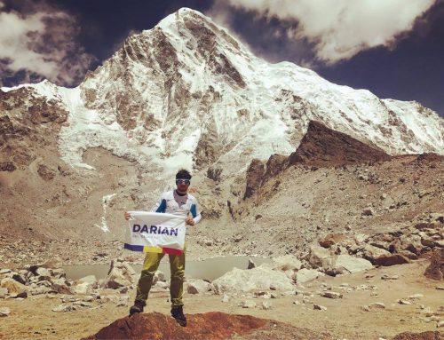 Vlad Căpușan la baza muntelui Pumori, versantul sudic