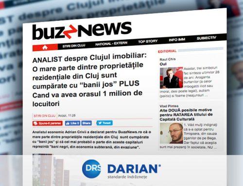 """Clujul """"suferă"""" de supraîncălzire imobiliară."""