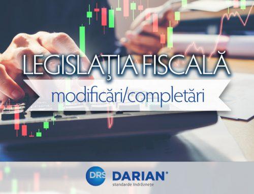 Modificări/completări ale legislației fiscale din România