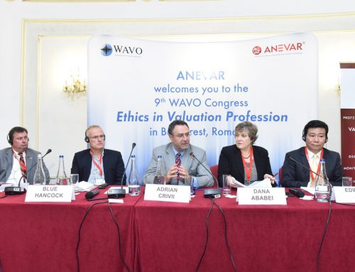Darian at the 9th Congress of the World Organization of Valuators – WAVO – Bucharest, September 6, 2018.