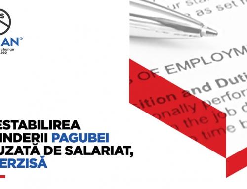 Prestabilirea întinderii pagubei cauzată de salariat, interzisă