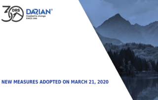 New measures adopted on march 21, 2020