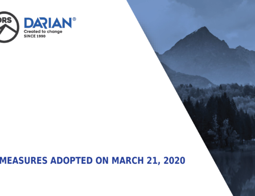New measures adopted in March 21, 2020