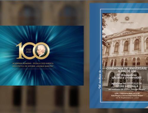 """Ceremonia de aniversare a 100 de ani de la înființarea Institutului de Istorie """"George Barițiu""""."""