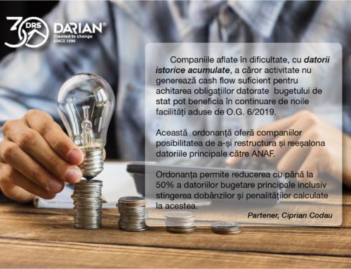 Companiile aflate în dificultate pot beneficia de ordonanța O.G. 6/2019 care le oferă posibilitatea de a-și restructura și reeșalona datoriile principale către ANAF.